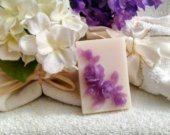 Lavender Rose Soap~Rose Soap~Purple Rose Soap~Guest Soap~Decorative Soap~Gift Soap~Mothers Day Gift~Handmade Designer Soap~Gift For Women~