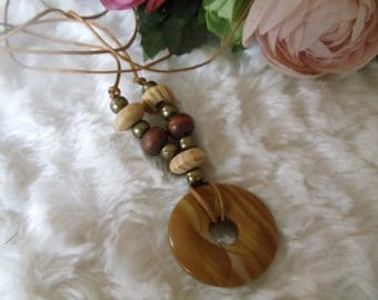 Grazy lace gold wood hippie ethnic