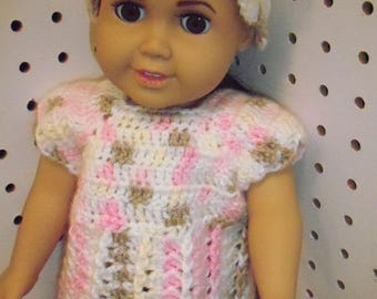 American Girl crochet dress and hat
