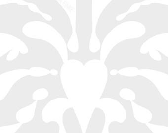 Inkblot Print, Abstract Art, Modern Printable, Geometrical Wall Art, Scandinavian Art, Grey & White, Splash Poster, Symmetric Illustration