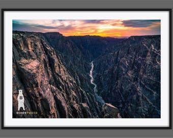 Landscape Photography, Black Canyon of the Gunnison, National Park, Colorado Art, Colorado Gifts, Colorado Decor, Colorado Photography