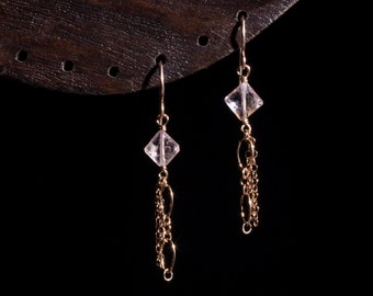 Pink Luxe Lantern Earrings by Ellie Bunny Jewelry