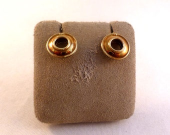 Tiffany & Co Paloma Picasso Sterling 18K Gold Reversible Earrings