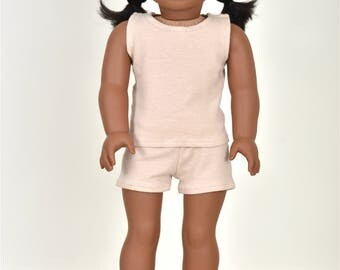 """Combo Set """"Simple Basics"""" 18 inch doll clothes Color Nude"""