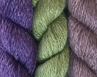 Tahki SOUFFLE 8.99 +1.25ea Shipping Angora Wool Yarn Purple Green Taupe - Weight Drape Sheen Luxurious Warm Washable. VERY Soft!