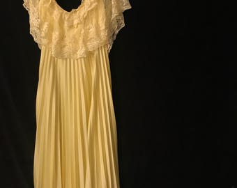 Belle of the Ball Yellow Floor Length Gown Golden Maxi Dress