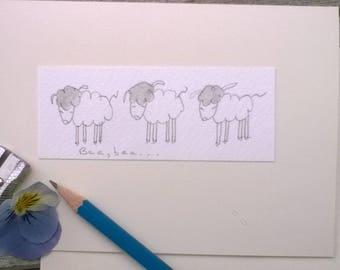 Greeting Cards Handmade Sheep