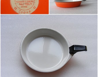 Vintage Enamel Skillet Cookware Frying Pan