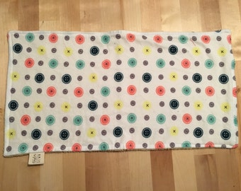 Buttons Baby Burp Cloth