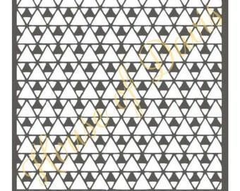 Triangle Stencil (Style 3) - 12x12