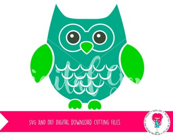 Owl SVG / DXF Cutting File for Cricut Design Space / Silhouette Studio & PNG Clipart, Digital Download, Commercial Use Ok