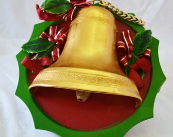Vintage Christmas Bell Wall Hanging
