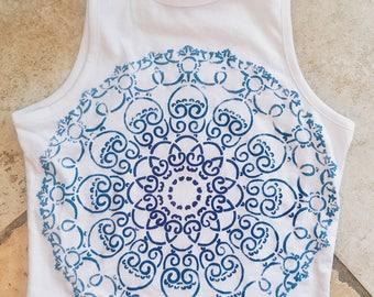 Mandala Halter Top ombre tank mandala shirt mandala tank ombre mandala fashion shirt ombre halter top