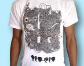 Tree TShirt Indie TShirt Nature Shirt Womens Organic Top Mens Organic Top Graphic Shirt Animal Shirt Nature Shirt Hipster Shirt