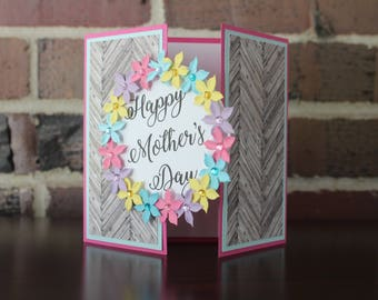 Floral Mother's Day Greeting Card - Custom Wording Available!