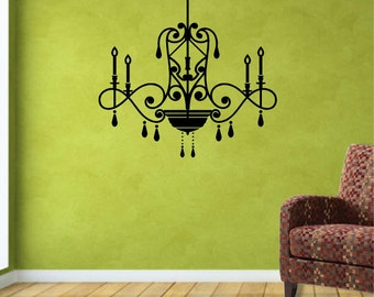 "Wall Decal. Vintage Home Decor. Ceiling lamp. Vintage Lamp. Vinilo decorativo: lampara techo 22""x 21"""