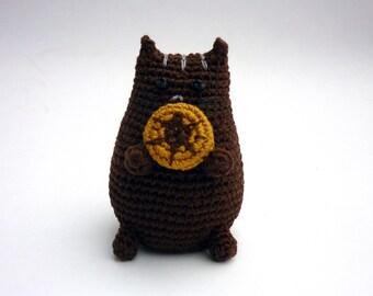 Fun crochet cat doll, Doughnut cat doll, Pusheen crochet cat, Toddler best friend, Handmade baby doll, Grey cat baby toy, Cat plush toy
