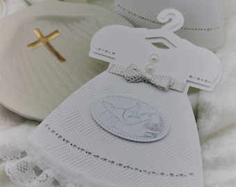 Handmade Baby Invitations, Religious Events, Christening, Baby Shower, Baby Announcement, Baby Dress, Baptism, Invitations, Personalized