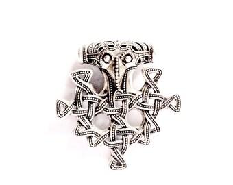 Silver German Thors hammer VIKING KRISTALL pendant