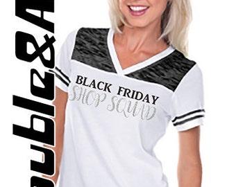 Black Friday Glitter Shirt, Black Friday Shop Squad, Black White Silver, Custom Black Friday Crew Football Jersey Shirts, Sale Shopping Team
