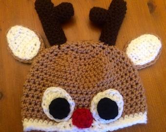Rudolph The Reindeer Hat/ Beanie