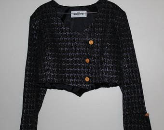 Black short Electra jacket size 38 new
