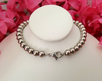 1 Stainless Steel Beaded Bracelet | Ready for your creations