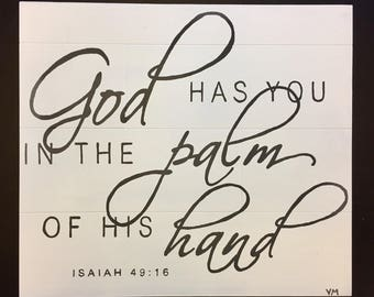 God Has You In The Palm Of His Hand Isaiah 49:16