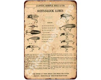Janney, Semple, Hill & Co. Fishing Lures Vintage Reproduction 8x12 Sign 8120952