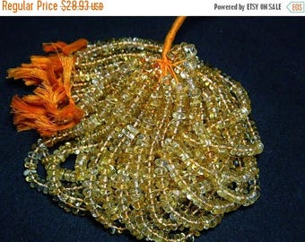 ON SALE 50% Citrine Rondelle Beads, AAA Citrine, 8mm Smooth Rondelle Beads, 5 Inch Half Strand