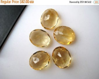 ON SALE 50% 5 Pieces Faceted Oval Citrine Loose Gemstones Cabochons, Calibrated Citrine Cabochons, 9x11mm Each, BB118