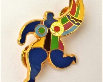 Pin / Brooch (double of pin) Vintage Niki of authentic saint Phalle