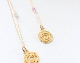 Sapphire Charm Necklace