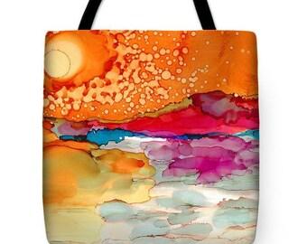 "Tote Bag ""Dawn of Life"" Arty Tote Bag FREE SHIPPING"