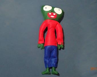 Zombie doll, felt pillow