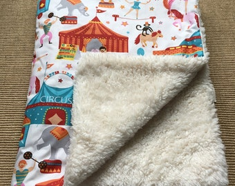 Circus Circus baby blanket by Calico Clouds