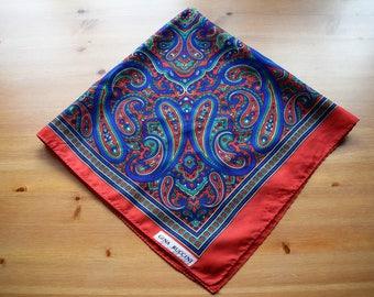 Vintage Gina Riccini paisley print scarf