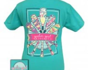 Girlie Girl Paddles tee shirt NEW