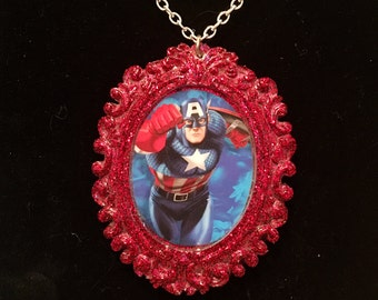 Captain America The Avengers cameo necklace