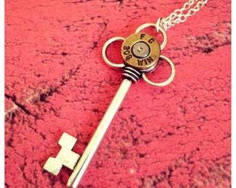 Bullet key necklace