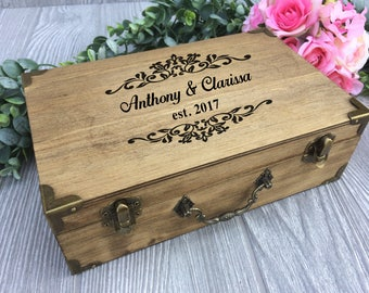 Rustic Ring Bearer Box, Rustic Wedding Ring Bearer Box, Wedding Wood Ring Box