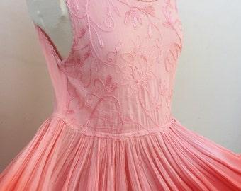 90's Dip Dyed Maxi Dress // Pink Maxi Dress // Vintage Maxi Dress // Long Dress