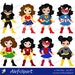50% OFF SALE Girls in superhero costume. Instant Download.