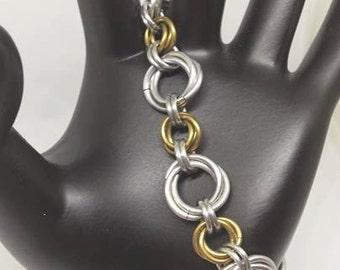 Brass Rosette Bracelet