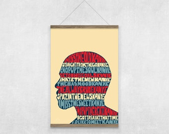 Kanye West I Love Kanye Lyrics Illustrated Poster Print | A6 A5 A4 A3