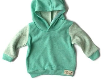 Mint French Terry Hoodie for Baby and Toddler