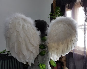 One Size Adult Feather Angel Wings - Made to Order