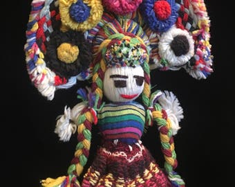 On Reserve for Heather--Central American Folk Art Doll