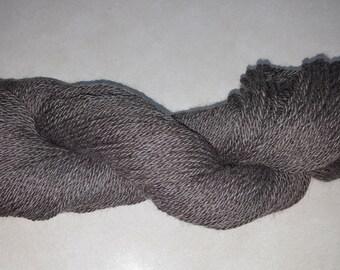 100% Dark Grey Llama Yarn, 3 ply Worsted, 200 yards