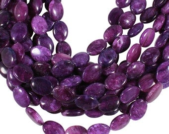 15 1/2 IN Strand 13x18 mm Sugilite Dyed Oval Smooth Gemstone Beads (SU100100)